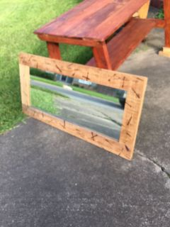 Rustic mirror 23 x45 asking $55.00