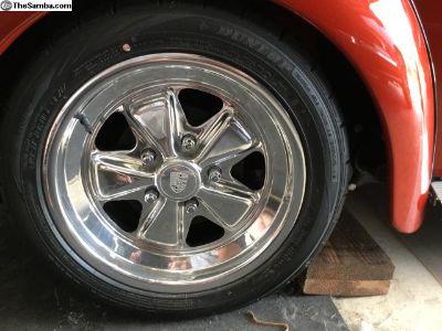 16 Porsche Fuchs 6&7 inch with tires.
