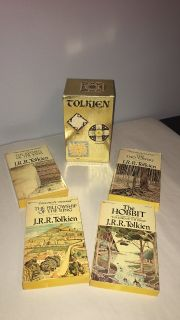 .R.R. Tolkien HOBBIT & LORD OF THE RINGS Gold Ballantine 1973 Boxed Set