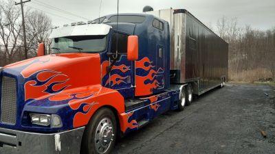 Semi truck and stacker trailer