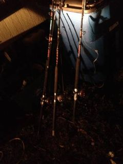 Deep sea fishing poles (Canyon lake)