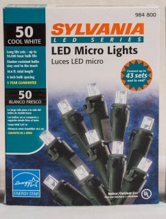 50 LED micro lights cool white