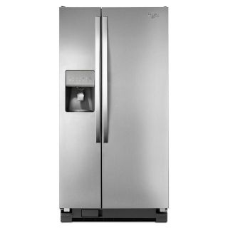 "Whirlpool 33"" Side by Side Refrigerator Stainless Steel WRS322FDAM"