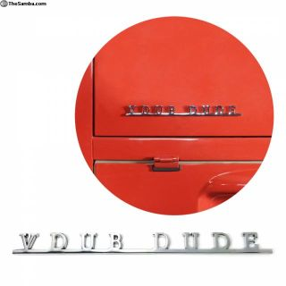 VW AirCooled Vdub Dude Script Emblem Badge