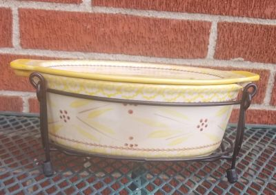 Temptations Old World Yellow 1.5 qt Oval Baker