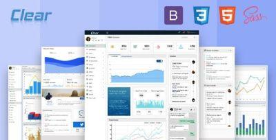 VueJS  Admin Template | Bootstrap Laravel  VUE Admin Template - Clear
