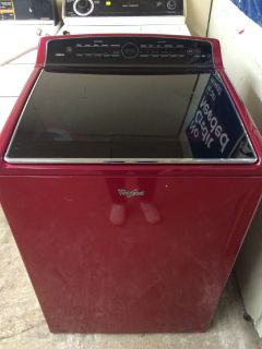 Whirlpool Cabrio HE Washer in Red