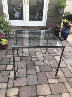 Glass Top Table s steel legs