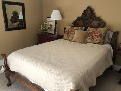 RALPH LAUREN MAHOGANY FRENCH BED AND MATTRESS