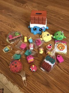 Large lot of shopkins items