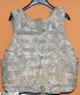 For Sale/Trade: Digital ACU USGI Size Medium Level 3A Vest/Carrier, Protective Collar, Aux. Deltoid Protector
