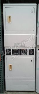 $850, Speed Queen Commercial Stack Dryer Apt Size Card OPL SSGF09WJ White Finish Used