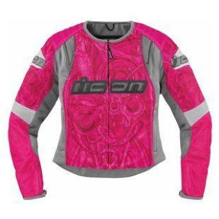 Find NEW ICON WOMEN'S OVERLORD SPORTBIKE SB1 ROSE MOTORCYCLE JACKET SIZE: XS-XL motorcycle in Kaukauna, Wisconsin, US, for US $225.00