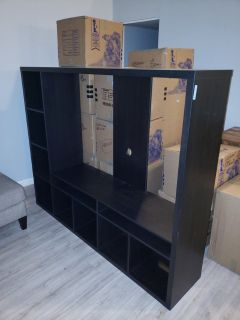 Large Black Entertainment Center/TV Stand