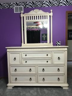 Dresser and queen bed frame