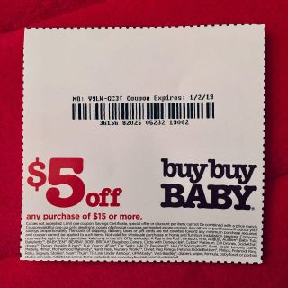 (( FREE. )) buybuy BABY $5.00 Dollar Off Coupon.
