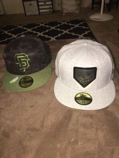 Brand new New Era SF Giants fitted hats