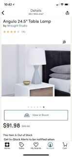 Pair of grey lamps with white shades