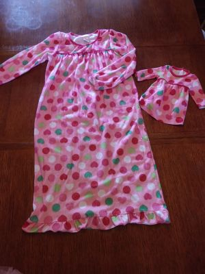 Jumping Beans matching doll & girl pajamas