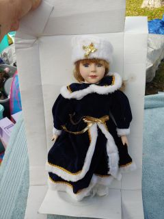 """NEW 16"""" porcelain collectible doll"""