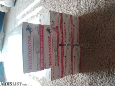 For Sale: Winchester 9mm- $100 for 500 rounds white box