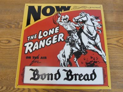 Reduced~Metal Sign~The Lone Ranger. Vintage Reproduction