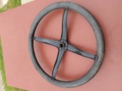"Really Nice 16"" Original Model T Ford Steering Wheel with Rim"