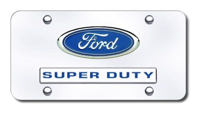 Purchase Ford Dual Super Duty Chrome on Chrome License Plate Made in USA Genuine motorcycle in San Tan Valley, Arizona, US, for US $38.64