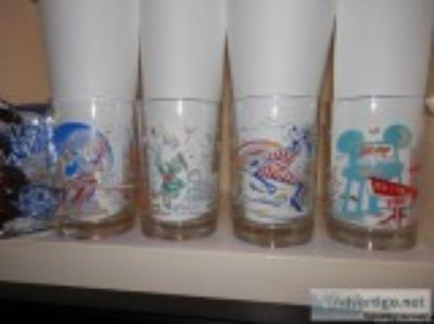 McDonalds Disney World th Anniversary Glasses Set of Mi