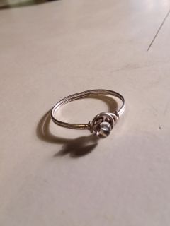 Size 9 tested silver ring