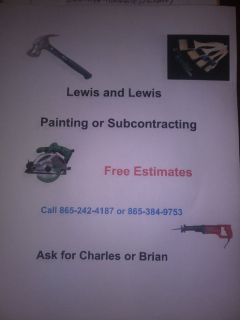 painting, plumbing repairs and house repairs