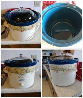 Large 6-quart RIVAL Slow-Cooker w Glass LID