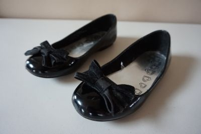 Girls Children's Place Black Patent Leather Dress Shoe Size 13