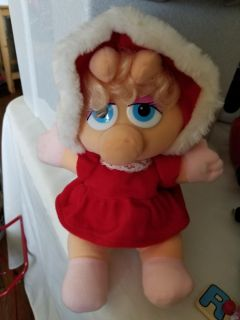 Baby Miss Piggy 1987 vintage stuffed doll