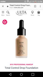 New!!Nyx total control foundation