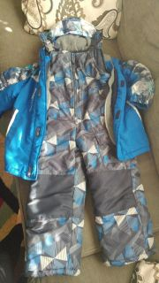 Double winter jacket with snow suit. Large 7.