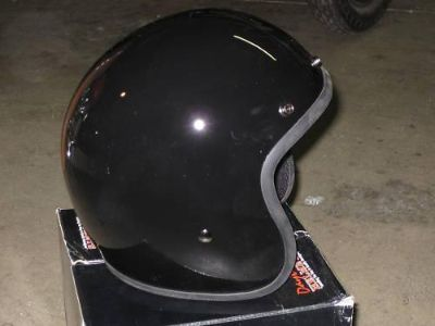 Purchase 3/4 black helmet Daytona cruiser motorcycle Medium Buco 1960s style gloss black motorcycle in Canyon Country, California, US, for US $48.00