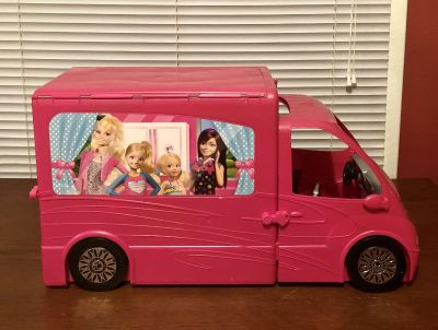 Mattel Barbies Sisters Life In The Dream House Camper RV Motor Home