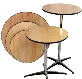 Pedestal Cocktail Tables - 1st Folding Chairs Larry