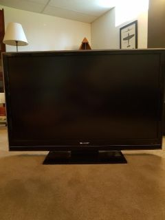 Sharp Aquos 46 TV with stand