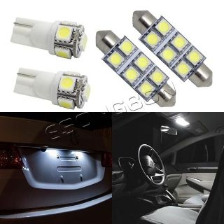 Find 6x White Interior Lights Package For Map 42mm+ Dome + T10 Licence Plate LED Lamp motorcycle in Cupertino, CA, US, for US $14.99
