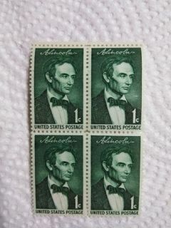 "Very Rare! A Set of 4 One Cent ""Beardless Abe Lincoln"" Stamps"