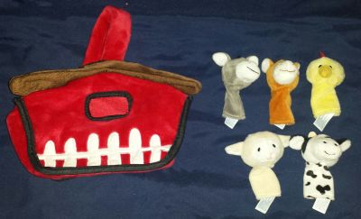 Hug fun finger puppets w/ carrying case