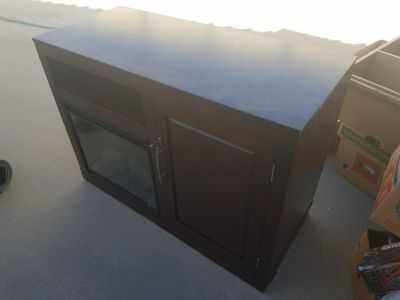 Electric fire place and fridge
