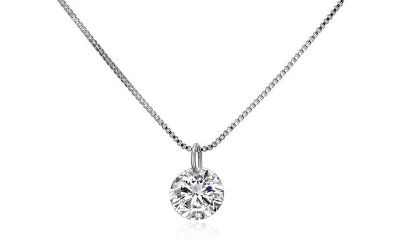 CLEARANCE **BRAND NEW***2.00 CTTW CZ Solitaire Necklace***