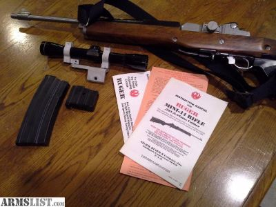 For Sale: Ruger mini 14 stainless factory folder