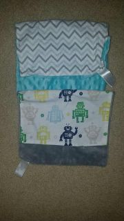 Two handmade burp cloths with taggie