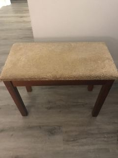 Piano bench - cushioned with storage in seat-