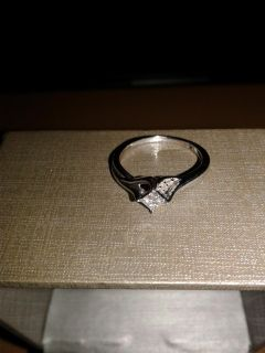 1/8 Carat Stirling Silver Engagement Ring