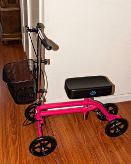 Hot pink Knee scooter